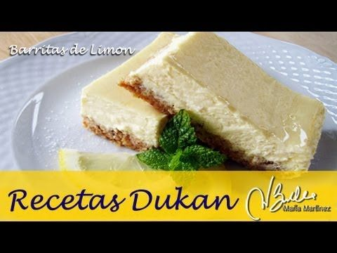 Adelgazar: Barritas de limón y galleta (Dieta Dukan Ataque) / Diet Cheesecake Lemon Bars