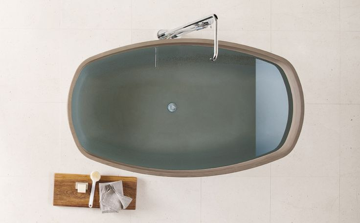 INKSTONE  BATHTUB by Steve Leung: #bathroom, #spa, #stone, #marble, #design, #MadeinItaly, #wellness, #design, #luxury