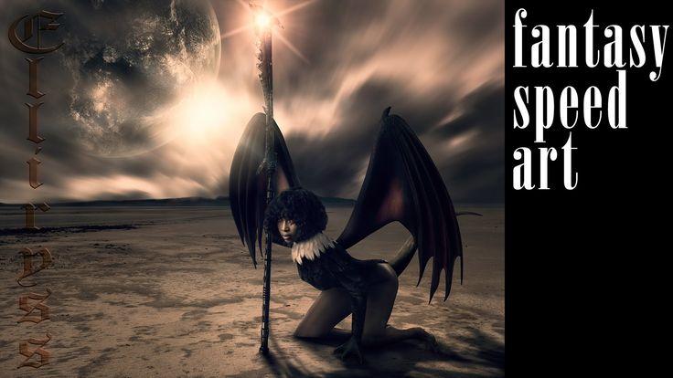 Elliryss valkyrie fantasy art photoshop manipulation (speed art)
