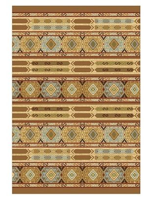 80% OFF Ikat Tribal Casual Rug, Light Brown, 2' 5