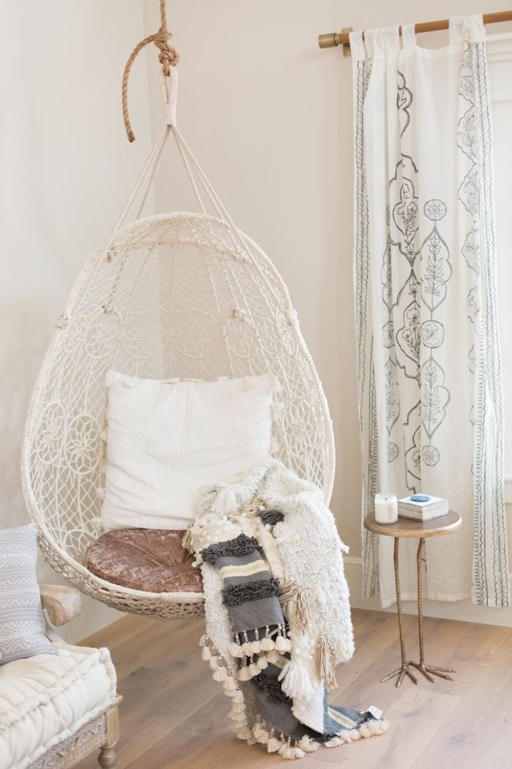 kids hanging chair for bedroom%0A Cozy little nook corner with a hanging seat   Urbanology Designs