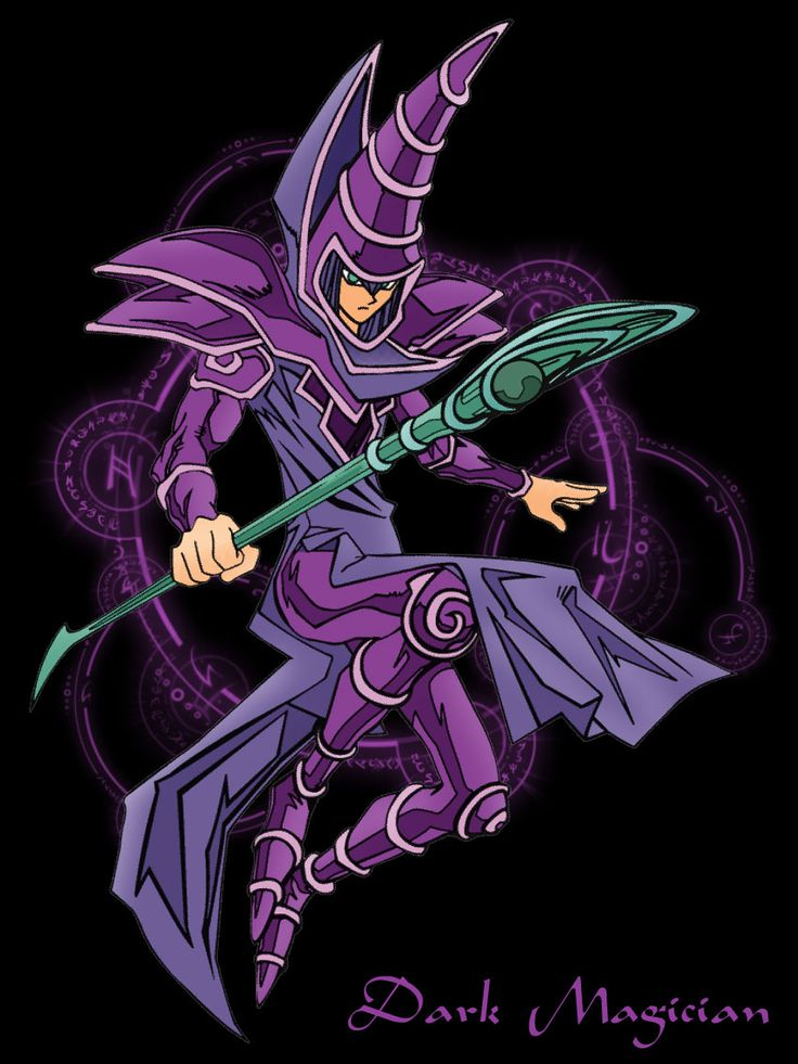 Dark magician from YuGiOh! YuGiOh! Pinterest