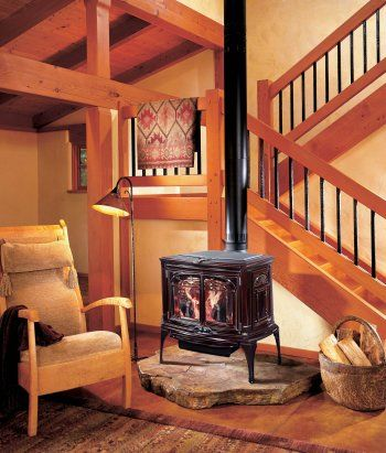 Wood-burning stoves are so effective! One family had 80* weather indoors in the dead of winter!