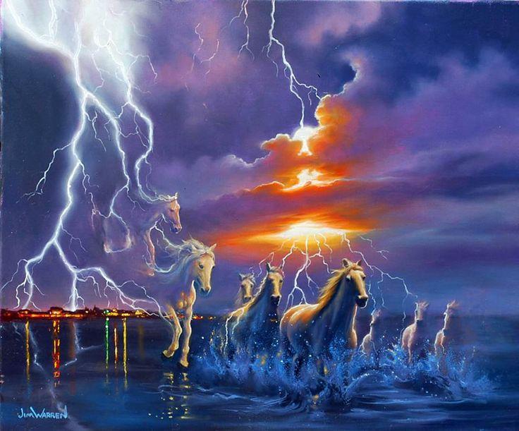Quot White Lightning Quot Jim Warren Art By Jim Warren