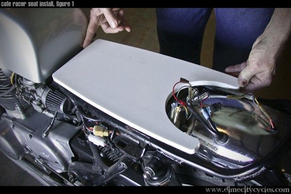 how to install your own cafe racer seat