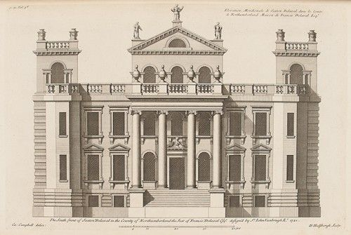 CAMPBELL, Colin. Vitruvius Britannicus, or The British Architect, Containing the Plans, Elevations, and Sections of the Regular Buildings, both Publick and private, in Great Britain, With Variety of New Designs; in 200 large Folio Plates, Engraved by the best Hands; and Drawn either from the Buildings themselves, or the Original Designs of the Architects; in II Volumes. [ - The third Volume of Vitruvius Britannicus...].  [London: 1731].