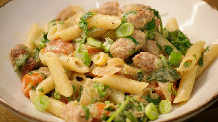 Pasta met venkel, spinazie en merguez | Dagelijkse kost