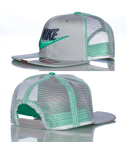 NIKE Mesh trucker style snapback cap Embroidered NIKE logo with swoosh on front Adjustable strap on back for ultimate comfort Lightweight