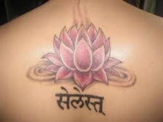 pink lotus tattoo 3