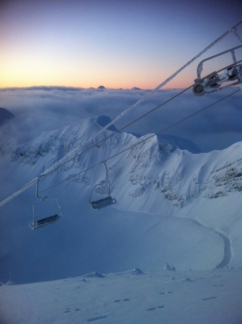 Fernie Alpine Resort - Sunrise from Polar Peak - Feb 2, 2012 - Photo Credit:  Stu Robbins by SKIRCR, via Flickr