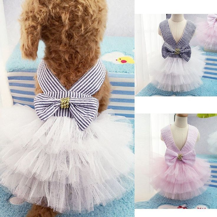 Pet Puppy Small Dog Cat Summer Clothes Tutu Dress Princess Skirt Apparel Costume #Unbranded