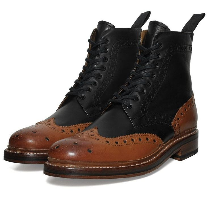 Grenson's Fred boot, black & cognac I really like these... Grenson's are probably my fave shoemaker