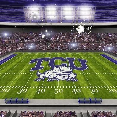 Texas Christian University  football stadium in Ft. Worth. Go Hornfrogs!