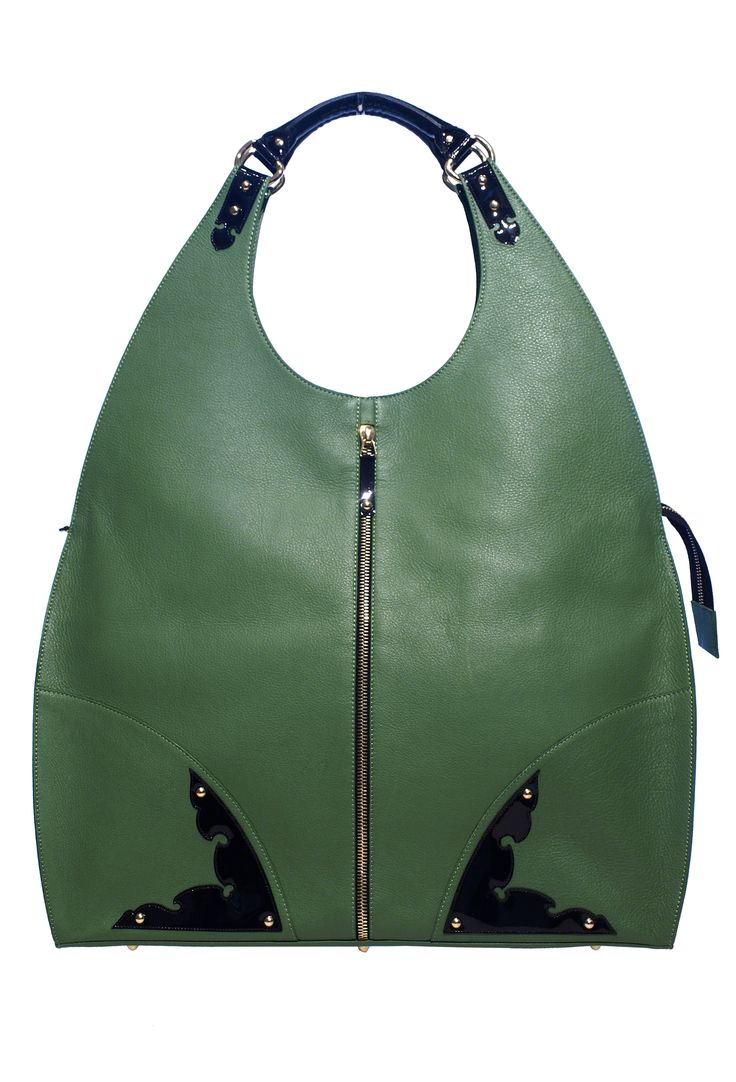 #cabinetbag #realleather #green