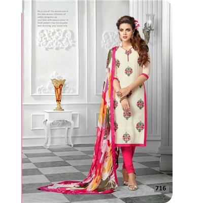 Saiveera Cream Cotton Unstitched Casual Salwar Suit/Dress Materials Saiveera Fashion Is a Best Manufacturer, Exporter,Wholesaler, As well as Best and dealer,Retailar Of Designer,Embroidery Wedding Sari,Kids Lahenga Choli,Salwar Suit,Dress Material,etc.in surat Textile Market. Also Mainly Focus On Style,Choice,Fabric. So Saiveera Fashion Also Made Designer, Printed, Cotton,Fancy,Kurtis,Saree,Embroidery ,Wedding, Partywear,For More Query Please Call Or Whatsapp- +91-8469103344