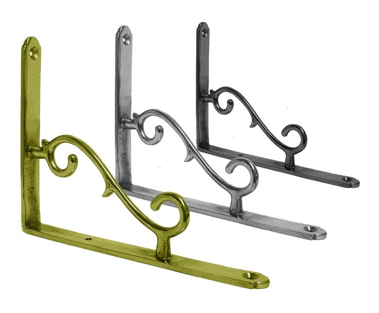 scroll effect wall bracket 180mm wall brackets in chrome brass and iron