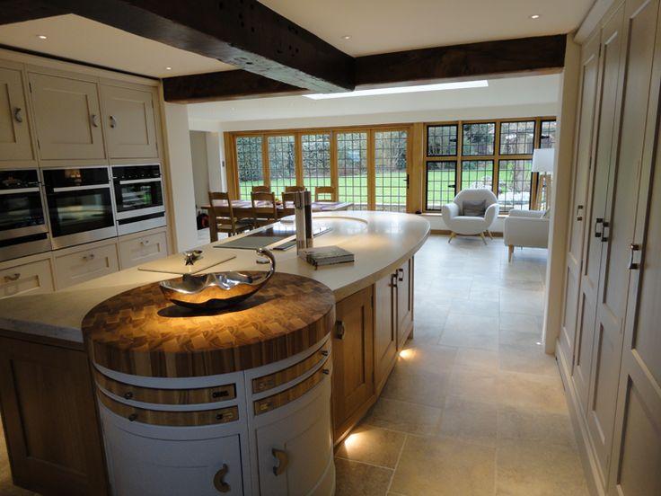 oak bifold doors in kitchen - Google Search