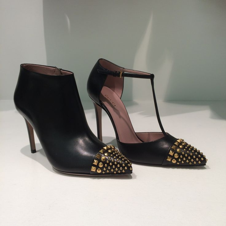 Metal studs shoe by @gucci #Gucci #shoes #studs #FolliFollie #FW14collection