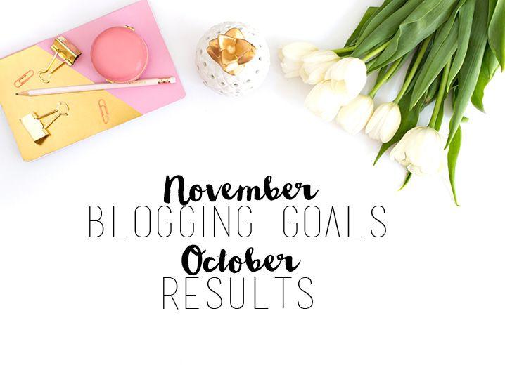 November Blogging Goals and October Results