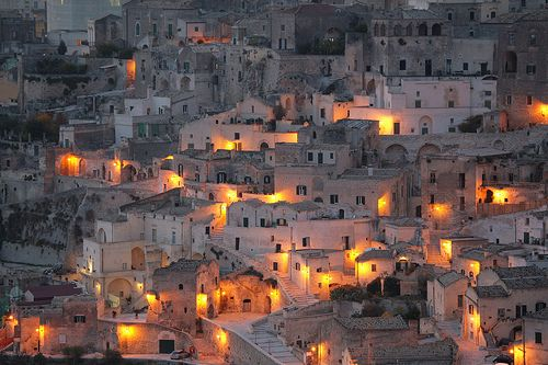 The Sassi of Matera--This falls under natural beauty: altough i've never been, i would love to go one day and visit the city of which my grandparents are from and keep so close to their hearts. I can honestly say i am proud to come from an italian background <3