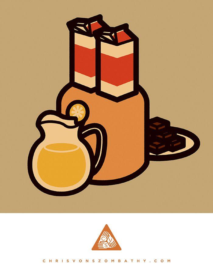 """""""Milk Milk..."""" an illustration by artist/designer Chris von Szombathy."""