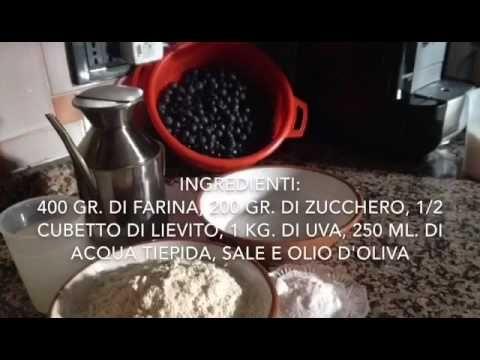 Ricetta schiacciata con l'uva - YouTube