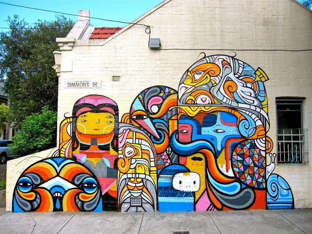 Phibs x Beastman x Creepy in Sydney, Australia - StreetArt101