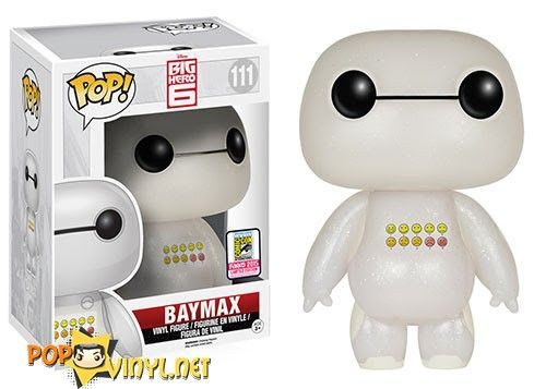 San Diego Comic Con Exclusive - Pop! Disney- Big Hero 6 – Transluscent Glitter Emoticon Baymax SDCC