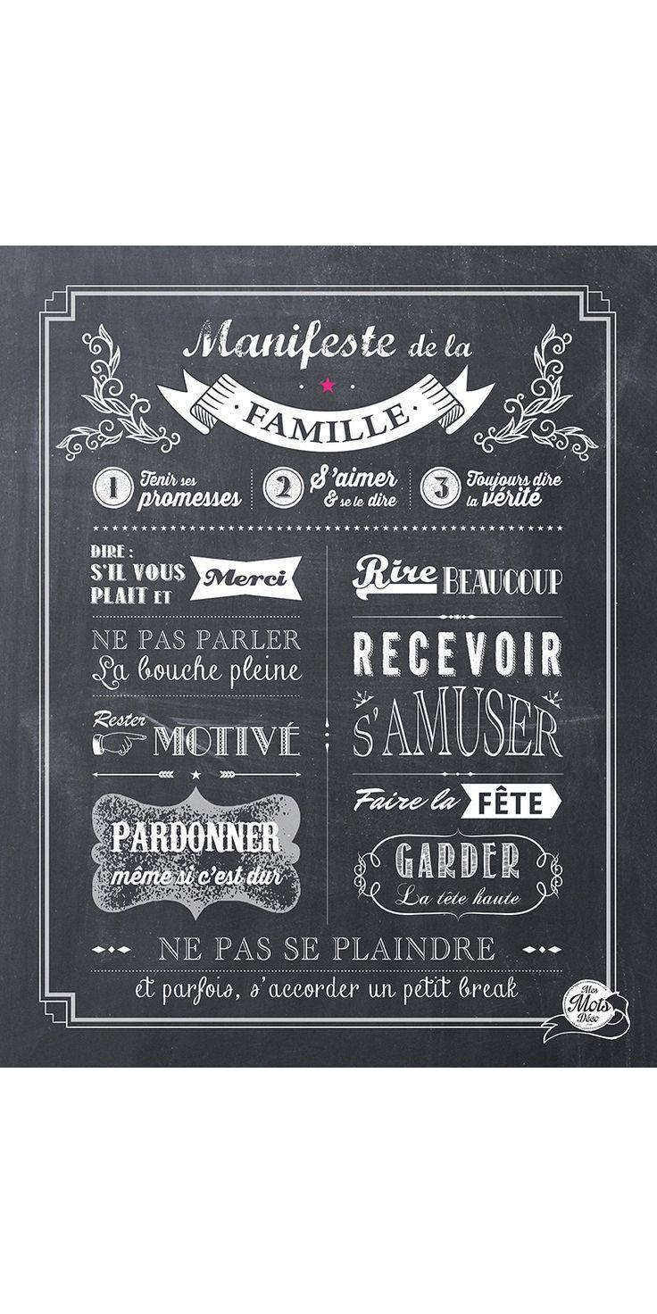 Manifeste de la Famille - Chalkboard - 40*50 cm