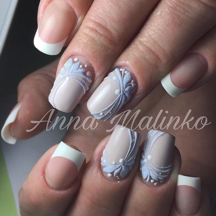 Frenxh nail art from  ANNA_MALINKO (@anna_malinko) on Instagram