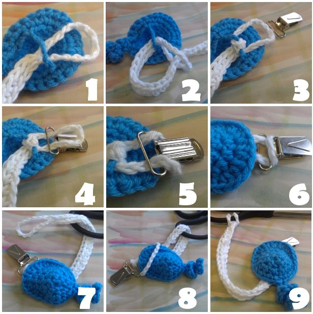 I wanted to create a version of a pacifier clip that is cute, doesn't have buttons (choking hazard) and one that can have cute little i...
