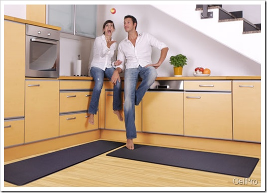 Gel Pro Mats Let Your Back Rest In The Kitchen While You Prepare Meals