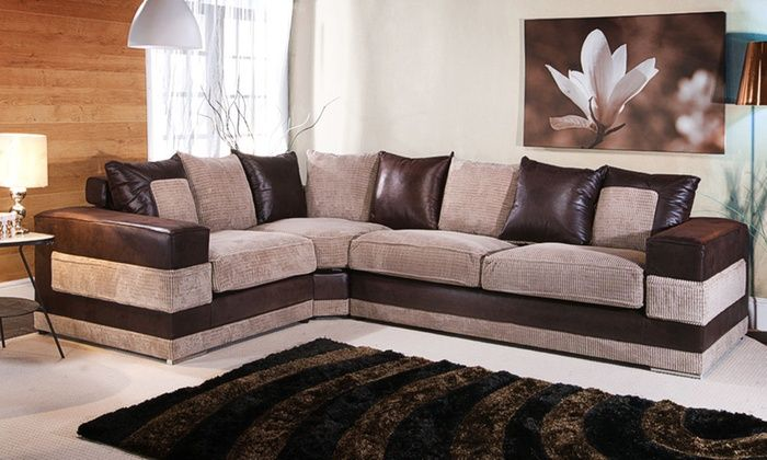 Groupon Goods Global GmbH: Kudos Corner Sofas (from £539) with Footstool (from £649) With Free Delivery (Up to 59% Off)