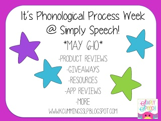 Exciting Things Ahead This Week! Phonological Process Week at Simply Speech!
