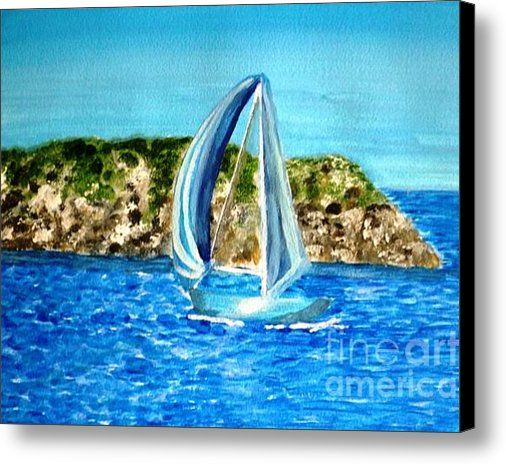 Limited Time Promotion: Sailing At Wicklow   Stretched Canvas Print