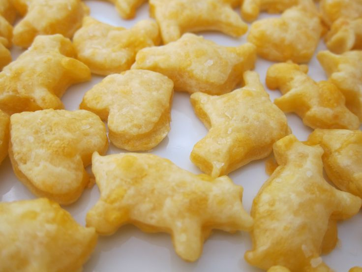 Homemade toddler cheese crackers