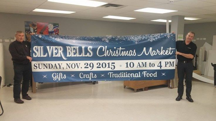 """We just finished up this gorgeous festive banner for St. Volodymyr church - 'tis the season!  """"Thanks for your help, we all love the banner!"""" #testimonial #banner"""