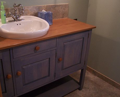 Sideboard Repurposed As Bathroom Vanity Repurpose Pinterest Stairs Repurposed And