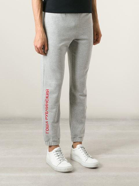 Gosha Rubchinskiy - track pants with logo + sweatshirt