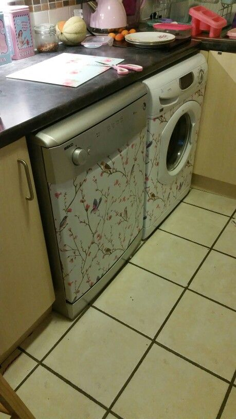 Old tatty looking appliances. .now looking fab with a reel of fablon