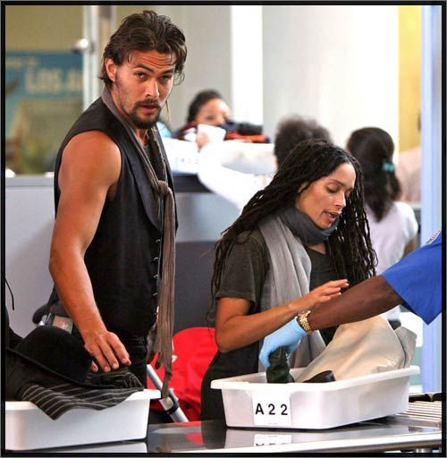 Lisa Bonet And Actor Jason Momoa Were Spotted At LAX