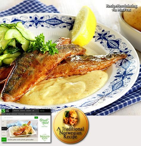 Fried Mackerel with Sour Cream Sauce / Stekt Makrell med Rømmesaus
