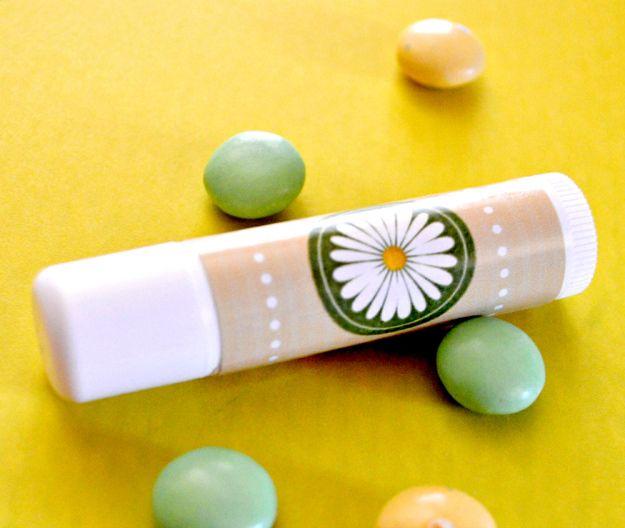 Spring lip balm printable labels