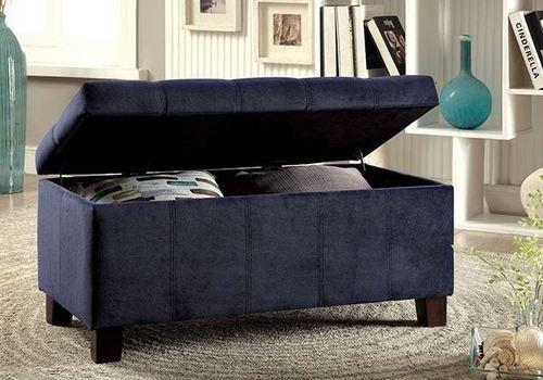 Furniture of America Remi Navy Storage Bench CM-BN6036NV