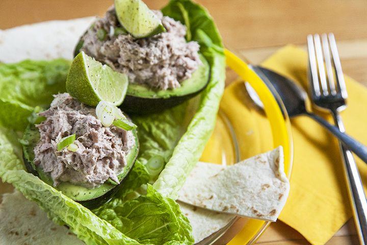 Avocat farcis au thon #recettesduqc #lunch #rapide