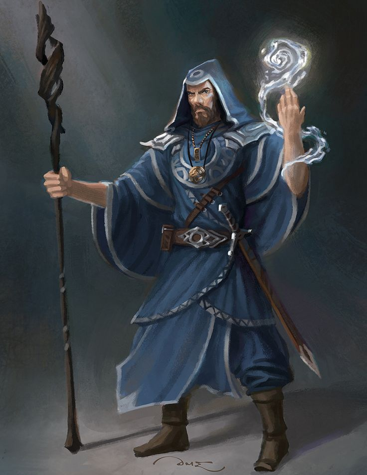 Human Wizard - Pathfinder PFRPG DND D&D d20 fantasy