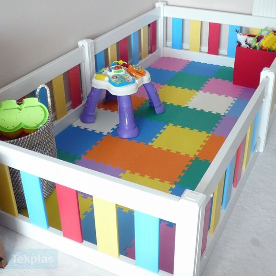 Baby Playpen And Toddler Playpen Multicoloured Toddler