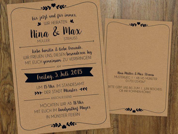 Hochzeit | Einladung | Vintage von Mess is mine auf DaWanda.com