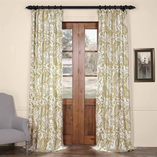 green paisley curtains