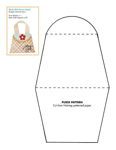 Free Paper Purse Pattern Patterns For Cards Card Bases Boxes Bagore Pinterest Crafts And